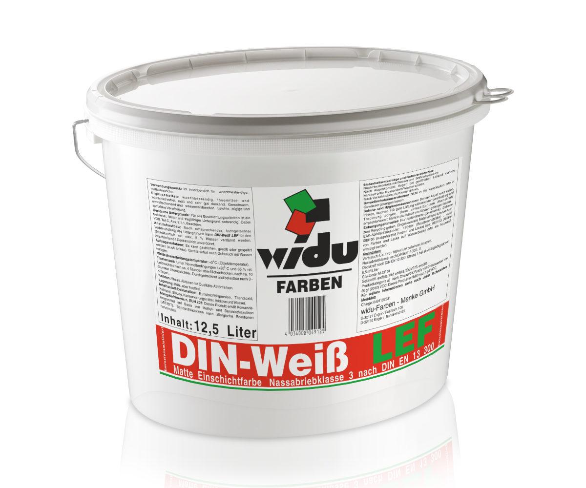 DIN-Weiss LEF*  Nassabriebklasse 3 DIN EN 13 300