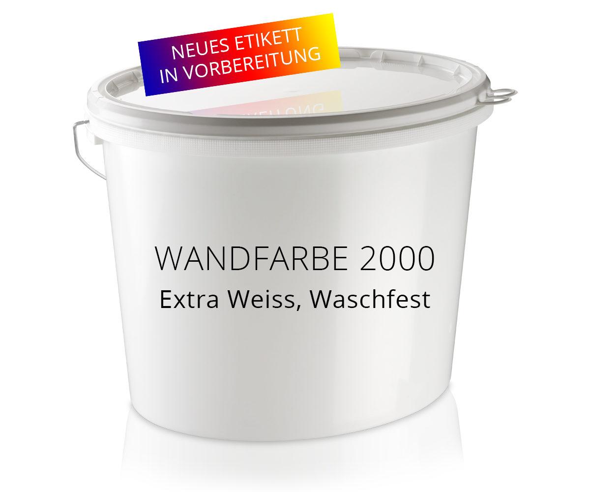 Wandfarbe 2000 Extra-Weiß Nassabriebklasse 4
