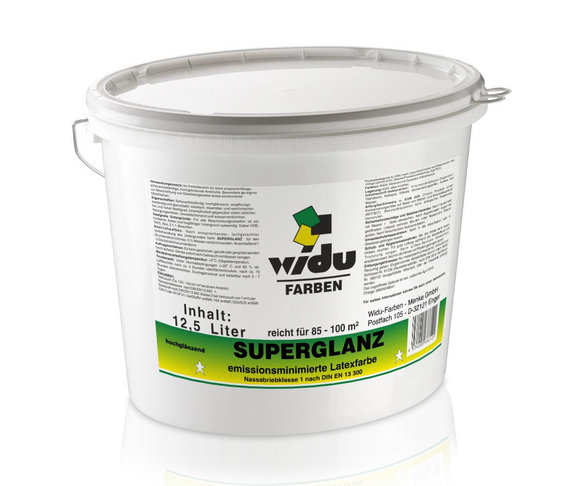 Superglanz LWF* glänzend Nassabriebklasse 1 DIN EN 13 300