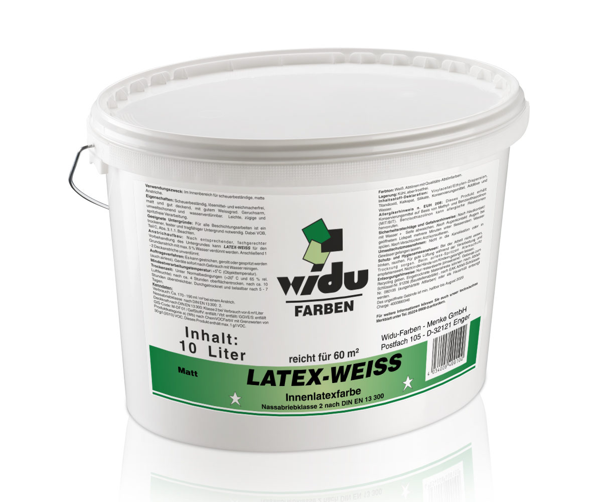 Latex-Weiss LF Nassabriebklasse 2 DIN EN 13 300 Matt